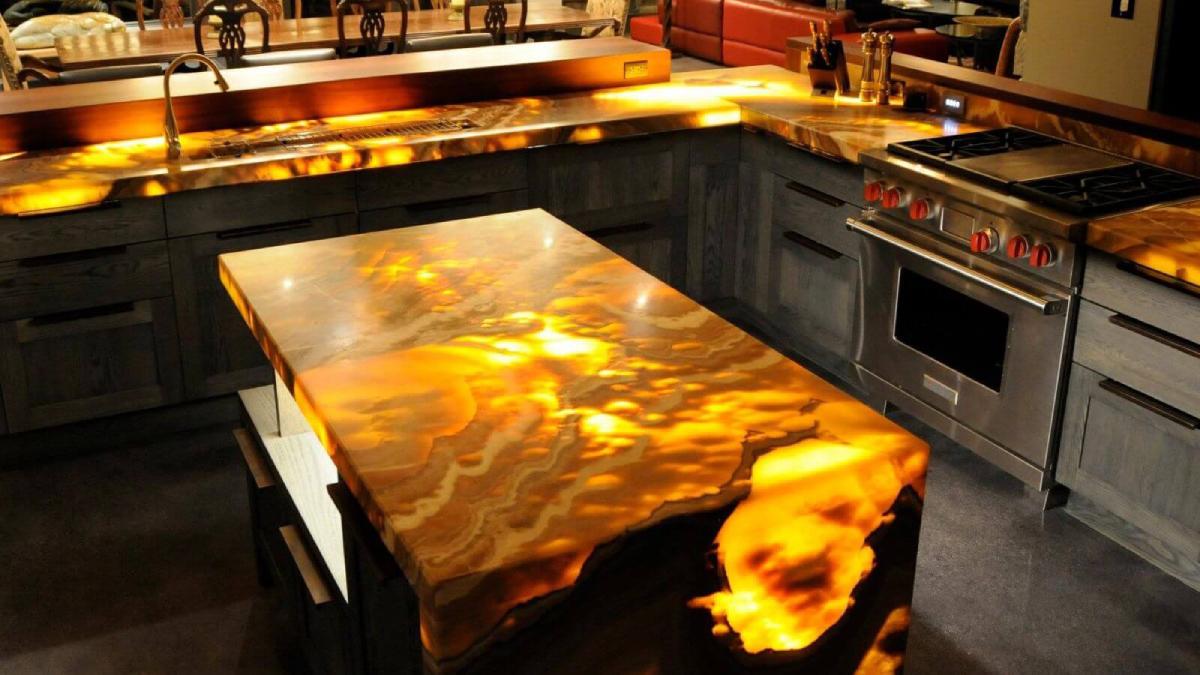 оникс в интерьере кухни